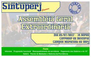 UERJ: Assembleia Geral Extraordinária dos servidores técnico-administrativos da Uerj @ Corredor da Reitoria da Uerj - Campus Maracanã