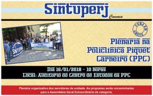 Uerj - Plenária na Policlínica Piquet Carneiro (PPC) @ Auditório do Centro de Estudos da PPC