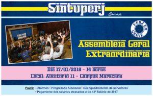 Uerj - Assembleia Geral Extraordinária @ Auditório 11 - 1º andar - Campus Maracanã da Uerj