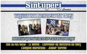 Vigília na Reitoria da Uerj - Reunião para discutir faltas no Hupe @ Corredor da Reitoria - Andar térreo - Campus Maracanã da Uerj