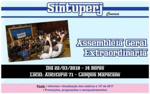 Uerj - Assembleia Geral Extraordinária @ Auditório 71 - Campus Maracanã da Uerj