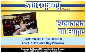 Plenária no Hospital Universitário Pedro Ernesto (Hupe) @ Anfiteatro Ney Palmeiro