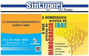 SINTUPERJ CONVIDA: II Congresso democrático sobre o IBGE @ Windsor Guanabara Hotel