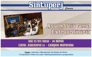 Uerj - Assembleia Geral Extraordinária @ Auditório 11 - Campus Maracanã da Uerj
