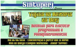 SINTUPERJ CONVOCA: Vigília na Reitoria da Uerj @ Hall do Queijo - Campus Maracanã da Uerj
