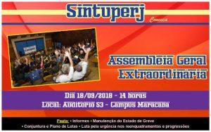 Uerj - Assembleia Geral Extraordinária @ Auditório 53 - Campus Maracanã da Uerj