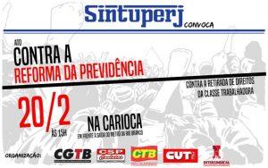 SINTUPERJ CONVOCA: Ato contra a Reforma da Previdência @ Largo da Carioca