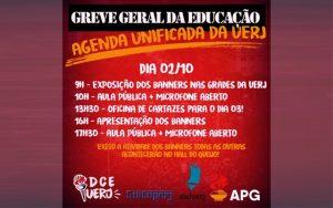 SINTUPERJ, DCE-UERJ, ASDUERJ E APG CONVOCAM: Atividades de mobilização para a Greve Geral da Educação @ Campus Maracanã da Uerj