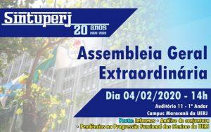 SINTUPERJ CONVOCA: Assembleia Geral Extraordinária (Uerj) @ Auditório 11 - 1º Andar - Campus Maracanã da Uerj