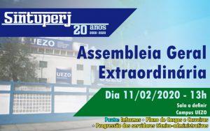 SINTUPERJ CONVOCA: Assembleia Geral Extraordinária (Uezo) @ Sala a definir - Campus Uezo